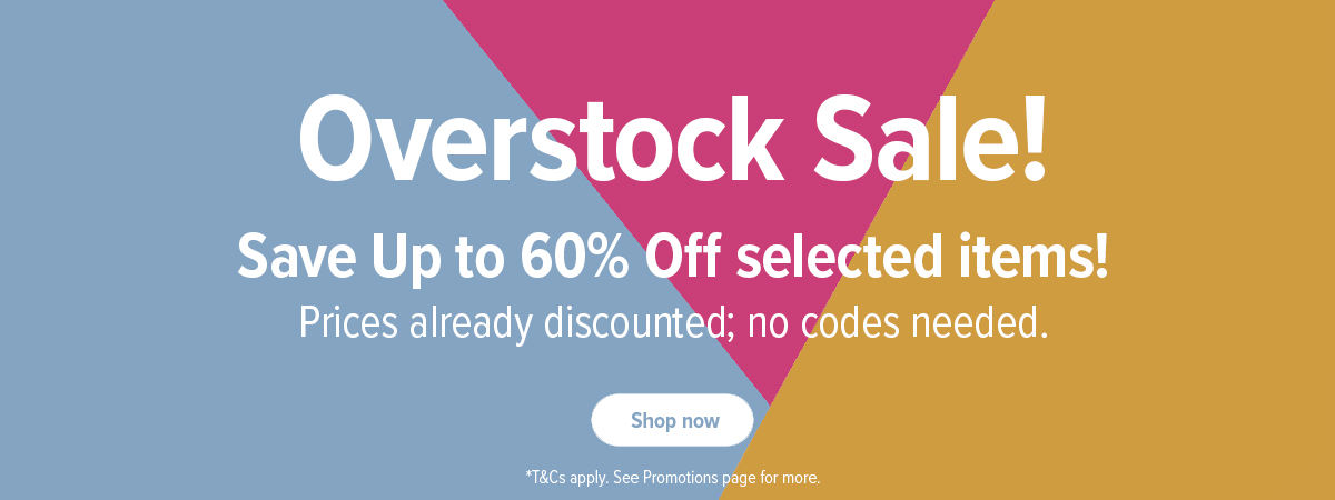 Overstock Sale - Save up to 60% Off select items!