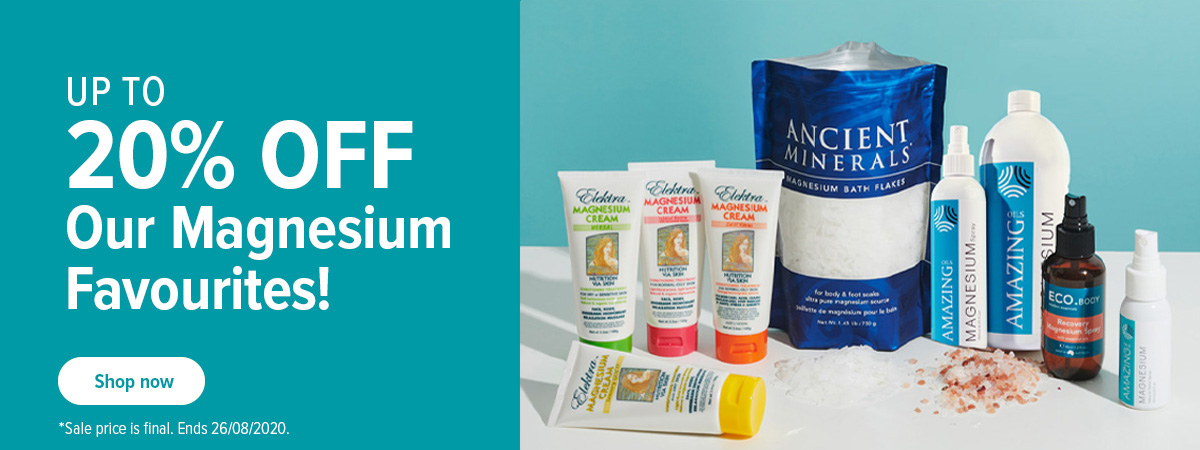 Save up to 20% off Magnesium Favourites