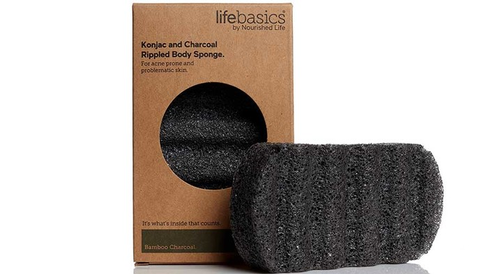 Life Basics Konjac Body Sponge Activated Charcoal