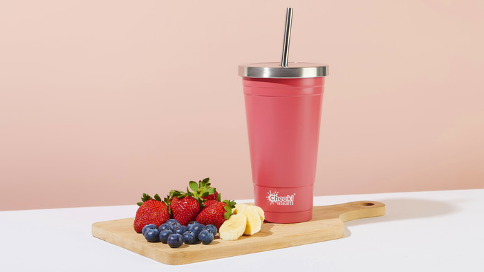 Cheeki 500ml Insulated Tumbler - Dusty Pink
