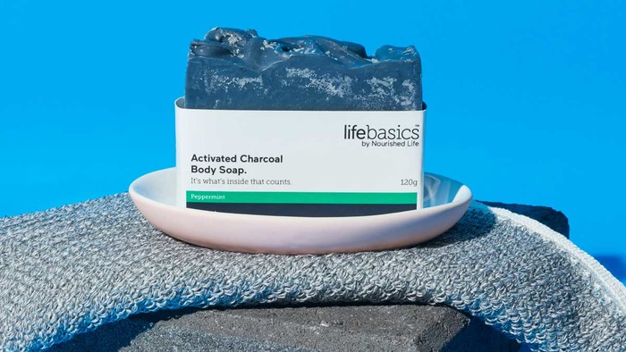 Life Basics Activated Charcoal Body Soap - Peppermint