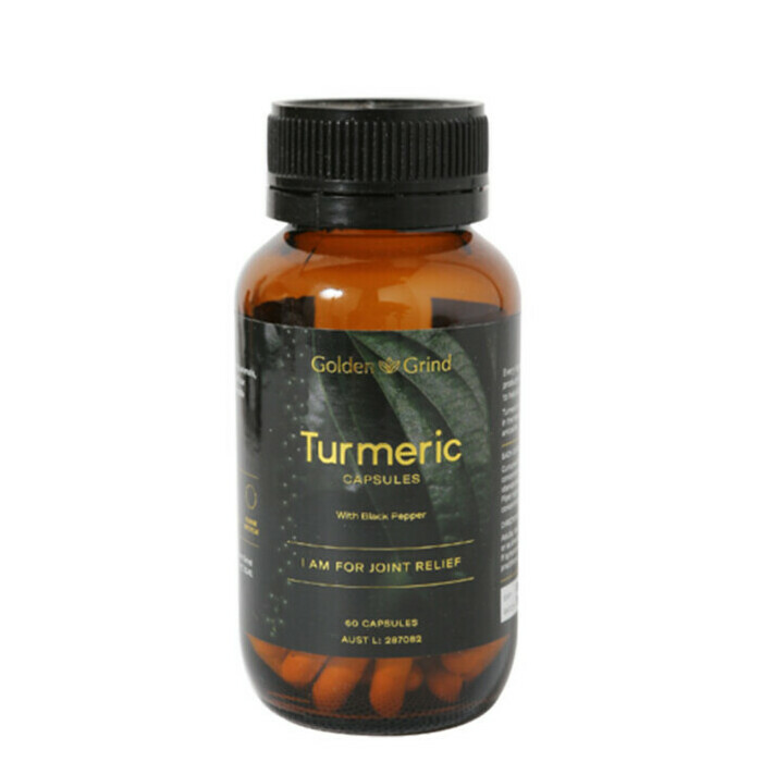 Golden Grind Turmeric Capsules with Black Pepper