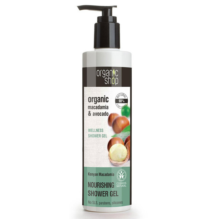 Organic Shop Shower Gel - Organic Macadamia & Avocado