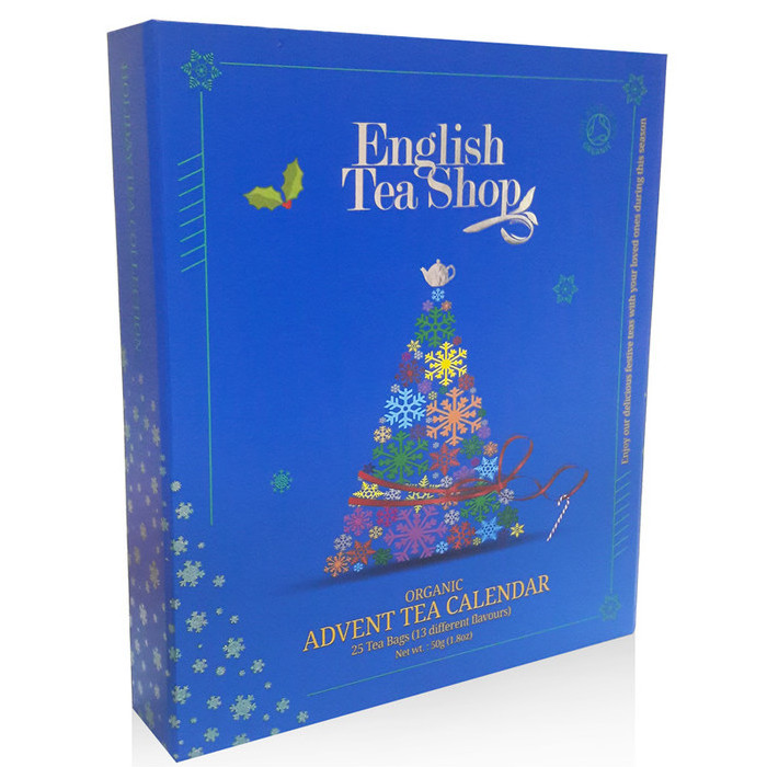 Christmas In Australia Book.English Tea Shop Organic Book Style Advent Calendar Blue Nourished Life