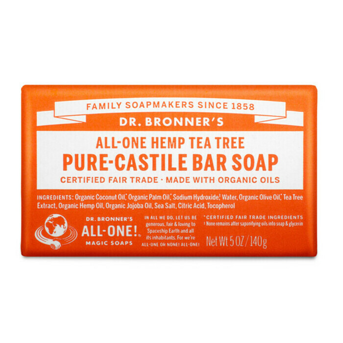 Dr Bronner's Pure-Castile Bar Soap - Tea Tree