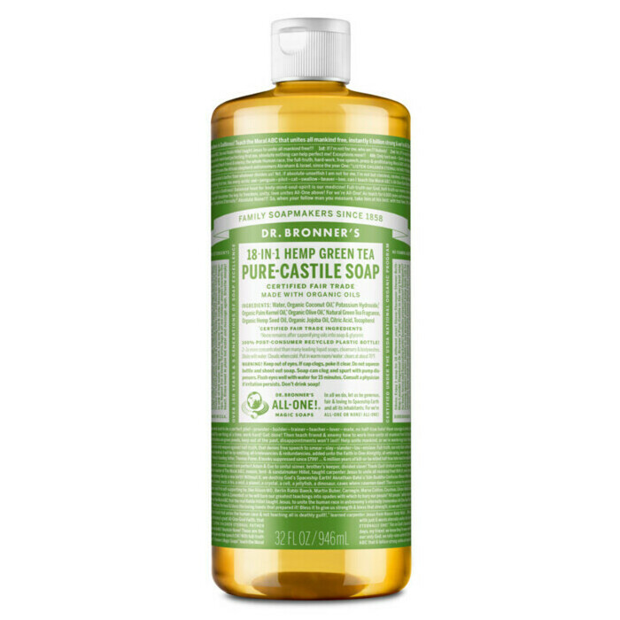 Dr Bronner's Pure-Castile Liquid Soap - Green Tea