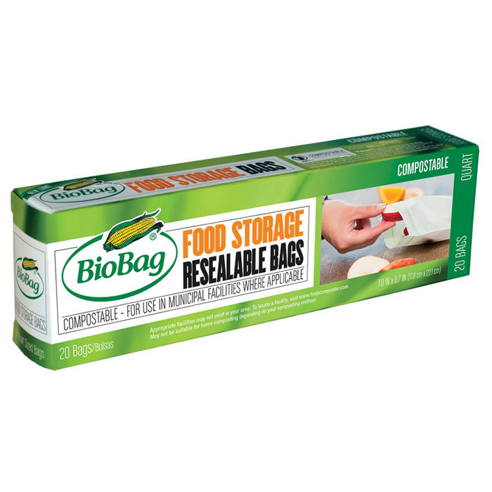 BioBag Resealable Food Storage Bags