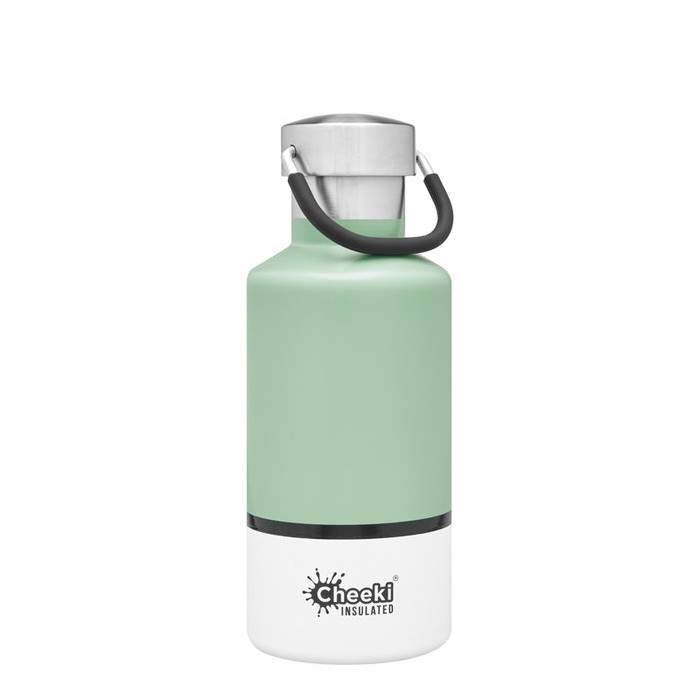 Cheeki Classic Insulated Bottle - Pistachio White