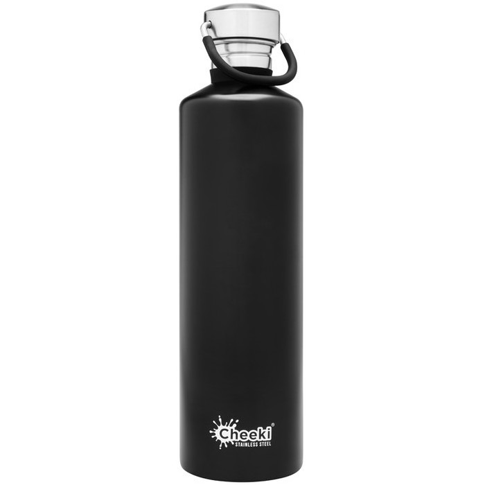 Cheeki Classic Single Wall Bottle - Matte Black