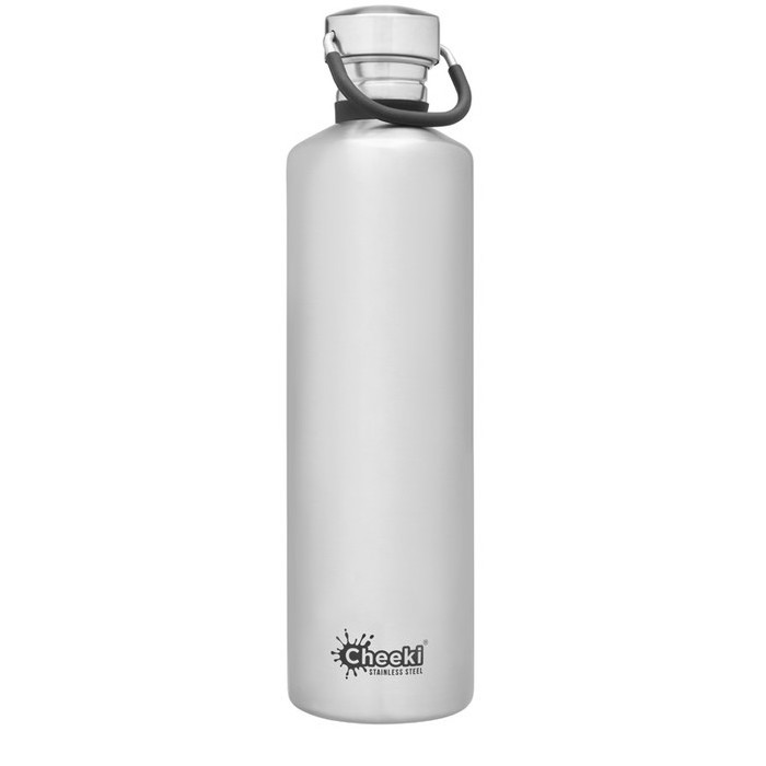 Cheeki Classic Single Wall Bottle - Silver