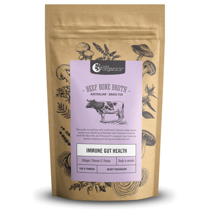 Nutra Organics Beef Bone Broth Powder - Hearty Mushroom