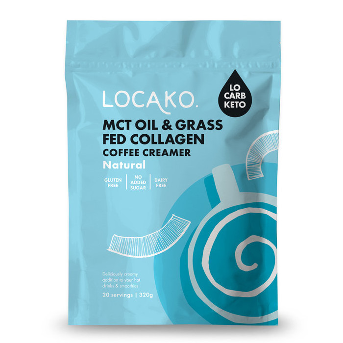 Locako MCT Oil & Grass Fed Collagen Coffee Creamer  - Natural