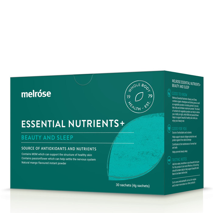 Melrose Essential Nutrients+ Beauty and Sleep 30 x 4g Sachets