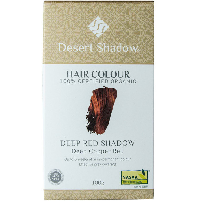 Desert Shadow Organic Hair Dye Deep Red Shadow Nourished Life