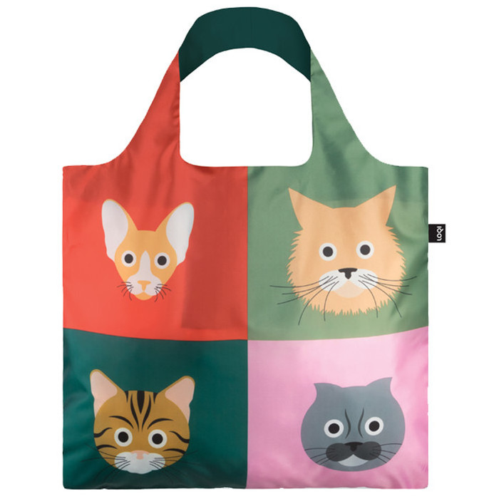 Loqi Stephen Cheetham Cats Tote Bag