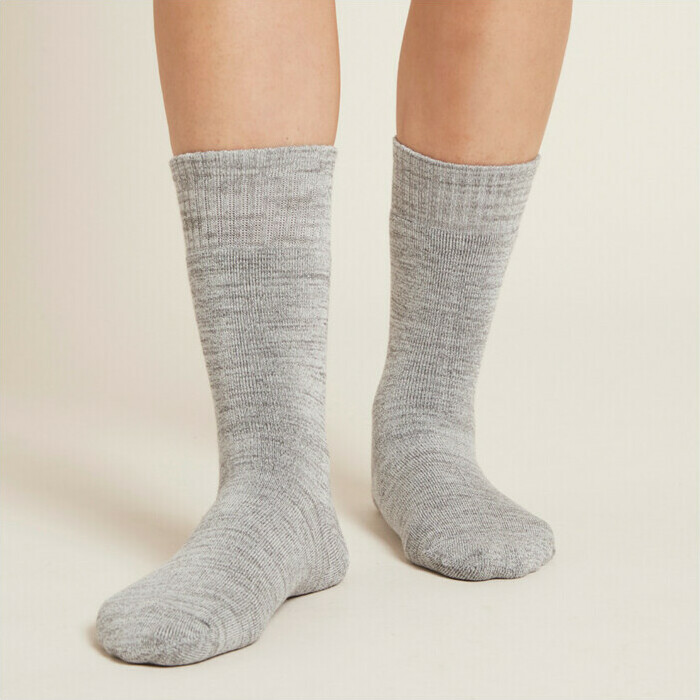 Boody Women's Crew Boot Socks - Grey Space Dye