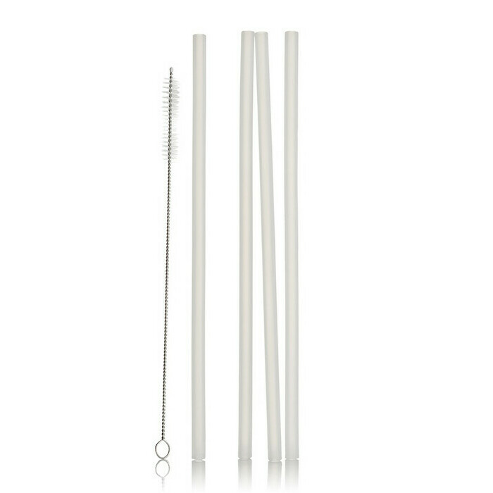 Life Basics Reusable Silicone Straws - Transparent