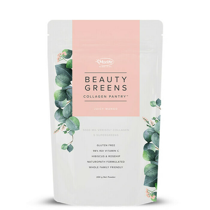 Morlife Collagen Pantry Beauty Greens - Juicy Mango