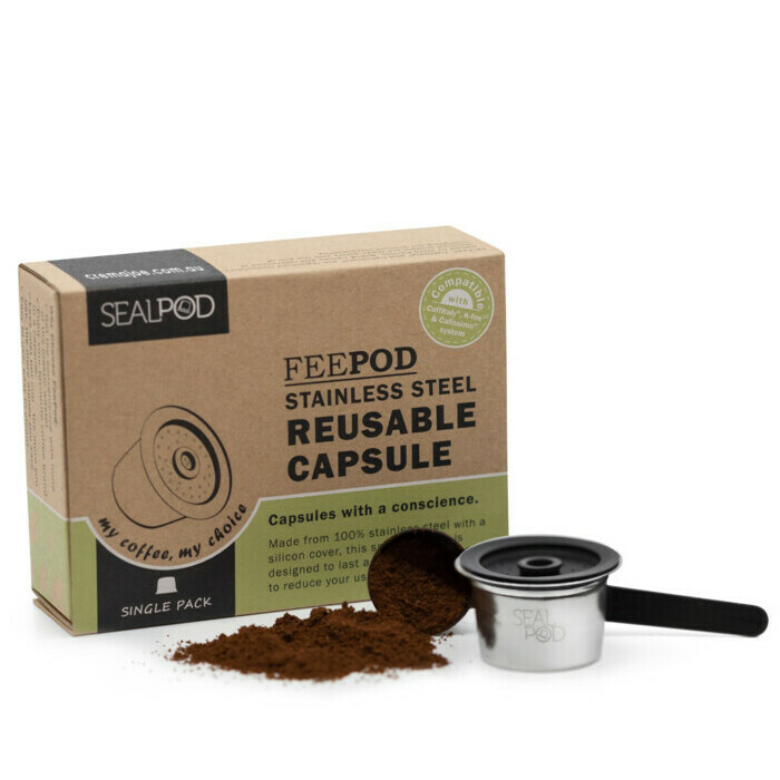 SealPod FeePod Stainless Steel Reusuable Coffee Capsules Starter Pack