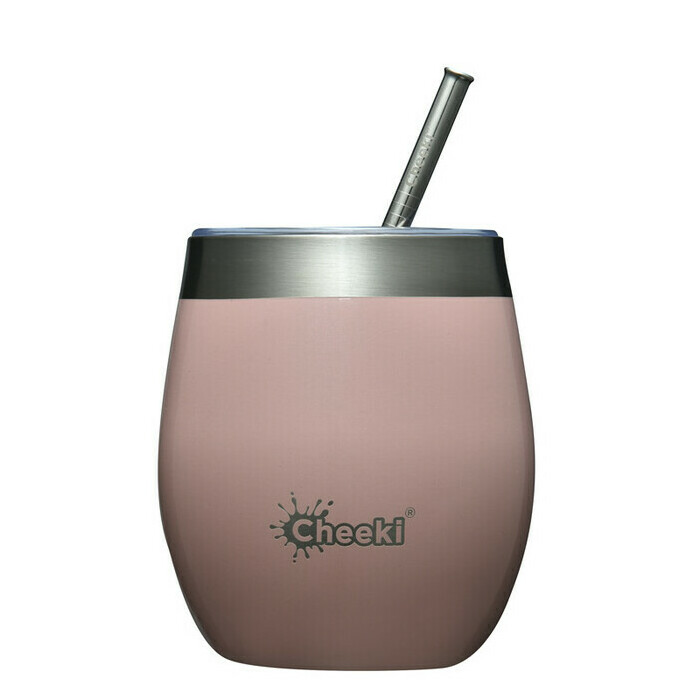 Cheeki 220ml Insulated Wine Tumbler - Champagne Pink