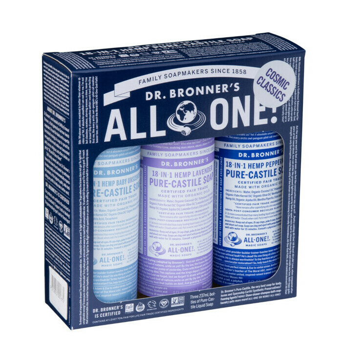 Dr Bronner's Cosmic Classics Liquid Soap Multi-Pack