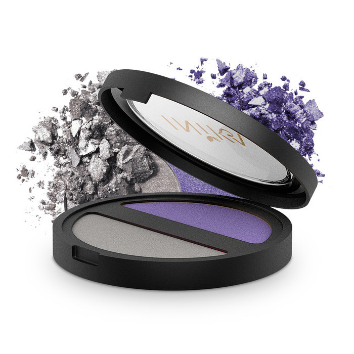 Inika Pressed Mineral Eyeshadow Duo - Purple Platinum