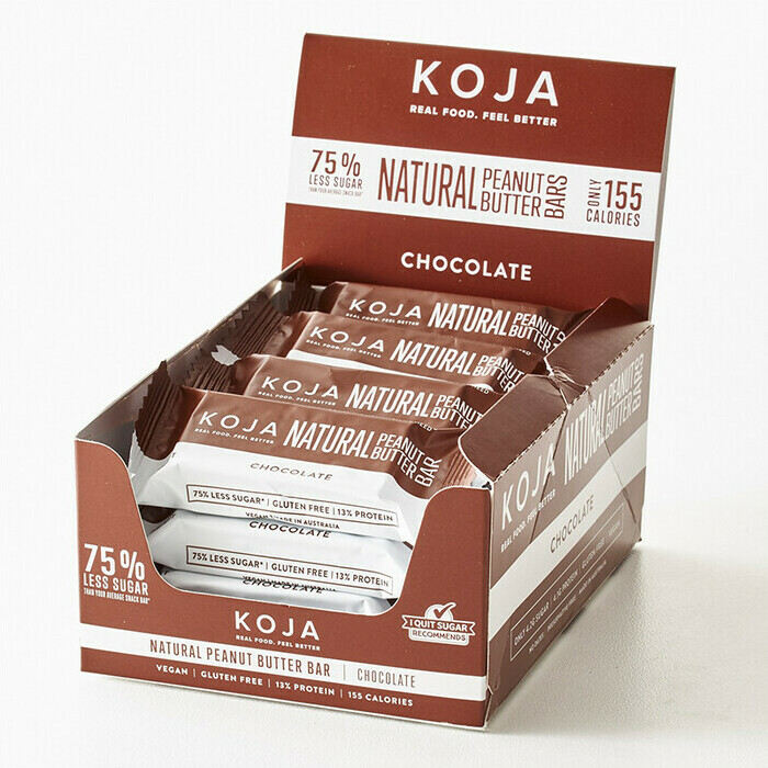 KOJA Natural Peanut Butter Bar - Chocolate