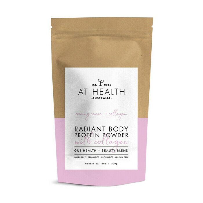 At Health Australia Radiant Body Protein Powder with Collagen - Creamy Cacao + Collagen
