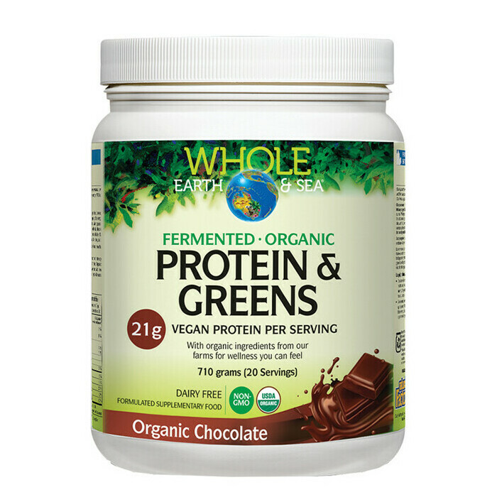 Whole Earth & Sea 100% Fermented Protein & Greens - Chocolate