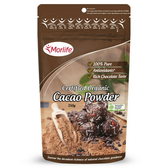 Morlife Certified Organic Cacao Powder