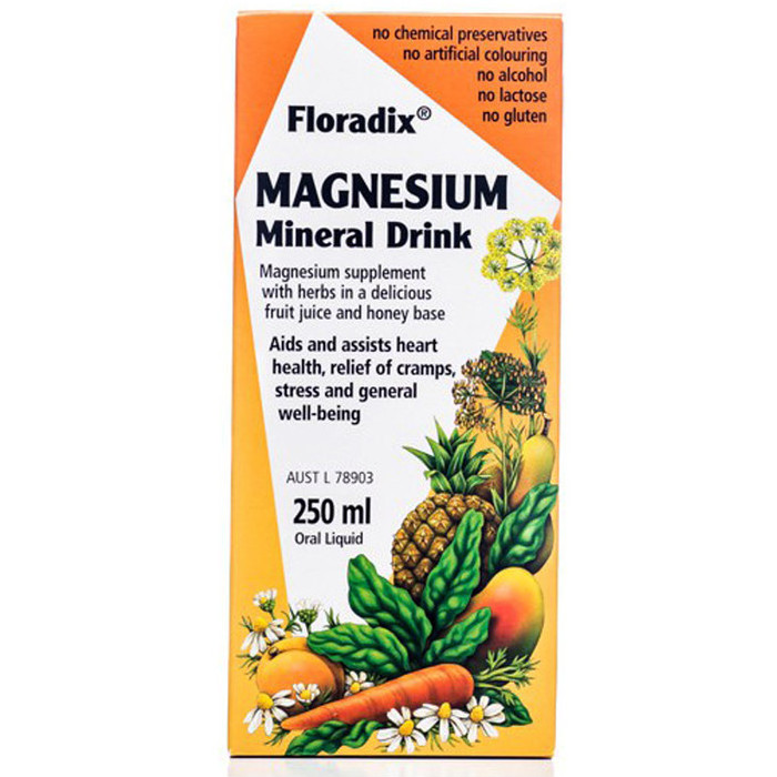 Floradix Magnesium Mineral Drink With Herbs in Fruit Juice & Honey Base