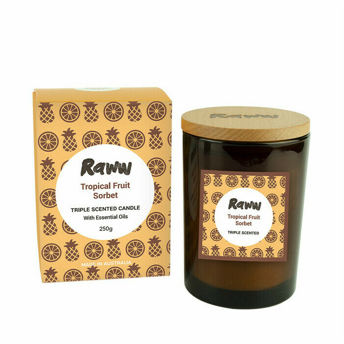 Raww Sorbet Candle - Tropical Fruit