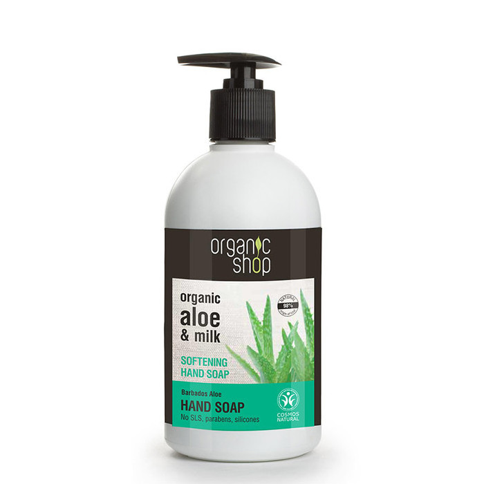 Organic Shop Hand Soap - Organic Aloe & Milk