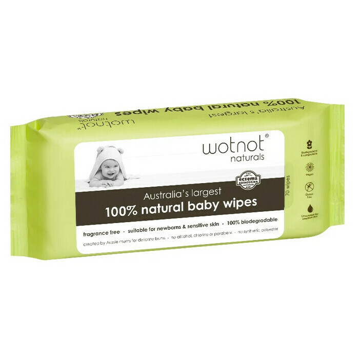 WOTNOT Biodegradable Baby Wipes - 70 Pack