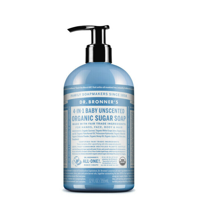dr bronner 39 s organic pump soap baby unscented mild nourished life australia. Black Bedroom Furniture Sets. Home Design Ideas