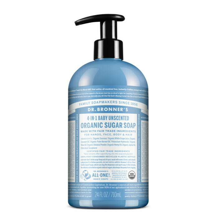 Dr Bronner's Organic Pump Soap - Baby Unscented Mild