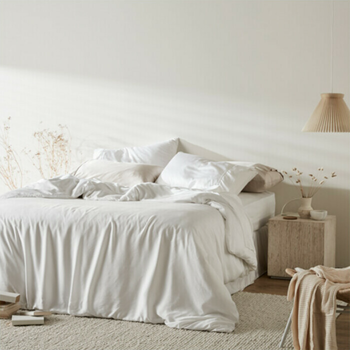 ettitude Sateen Duvet Cover - Cloud