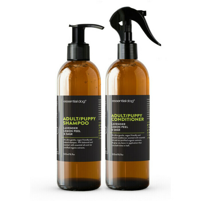 Essential Dog Adult & Puppy Shampoo & Conditioner Lavender, Lemon Peel & Sage