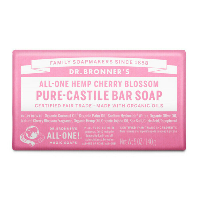 dr bronner 39 s pure castile bar soap cherry blossom nourished life australia. Black Bedroom Furniture Sets. Home Design Ideas
