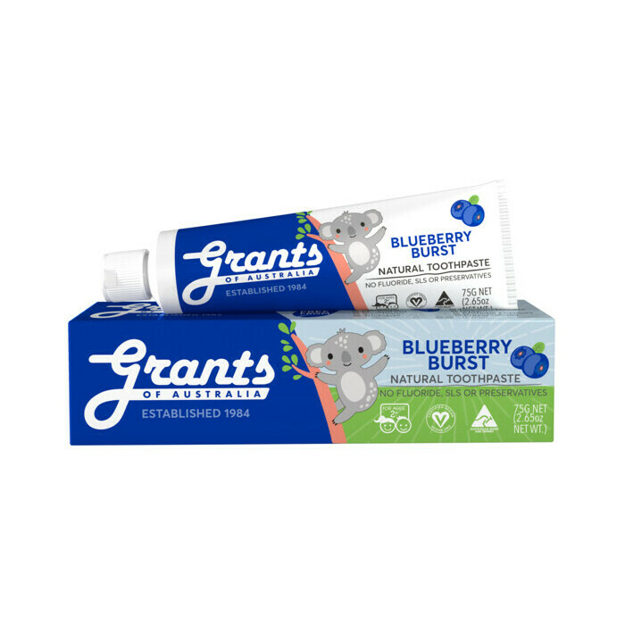 Grants Kids Natural Toothpaste - Blueberry Burst