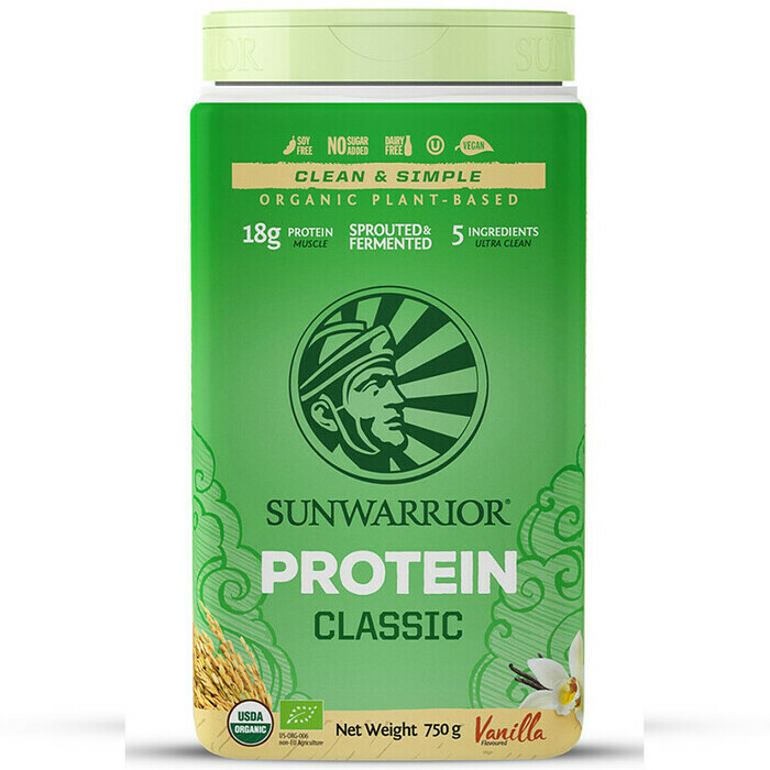 Sunwarrior Classic Plus Raw Vegan Protein Powder - Vanilla