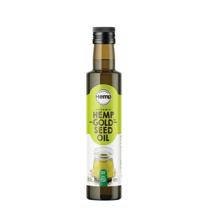Essential Hemp by Hemp Foods Australia Organic Hemp Gold Seed Oil
