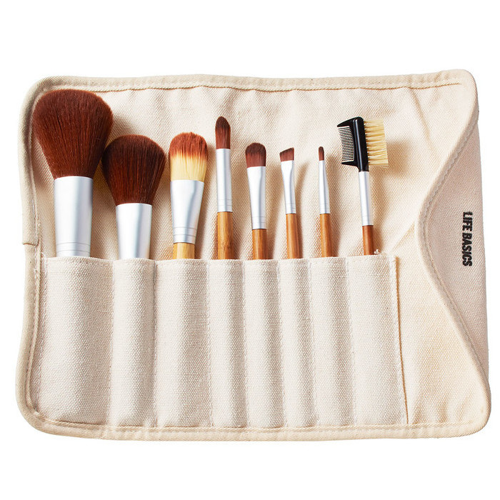 Life Basics Bamboo Vegan Makeup Brush Set Nourished Life