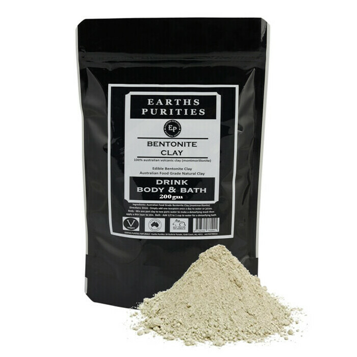 Earths Purities Drink, Body & Bath Bentonite Clay