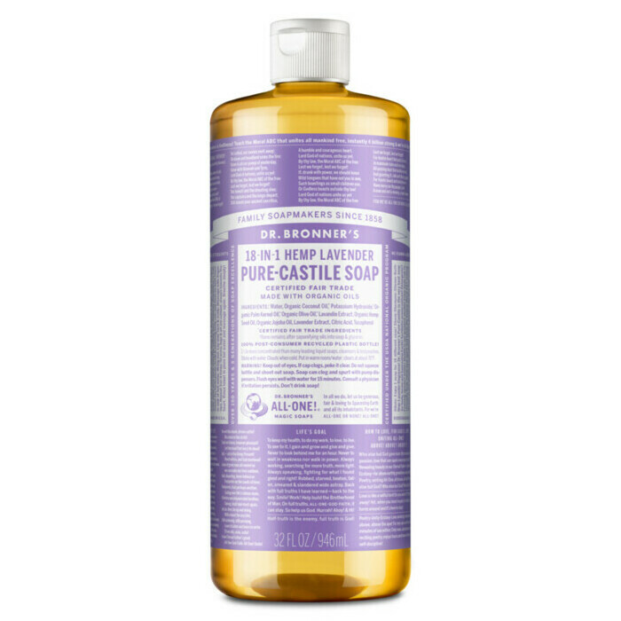 dr bronner 39 s pure castile liquid soap lavender nourished life australia. Black Bedroom Furniture Sets. Home Design Ideas