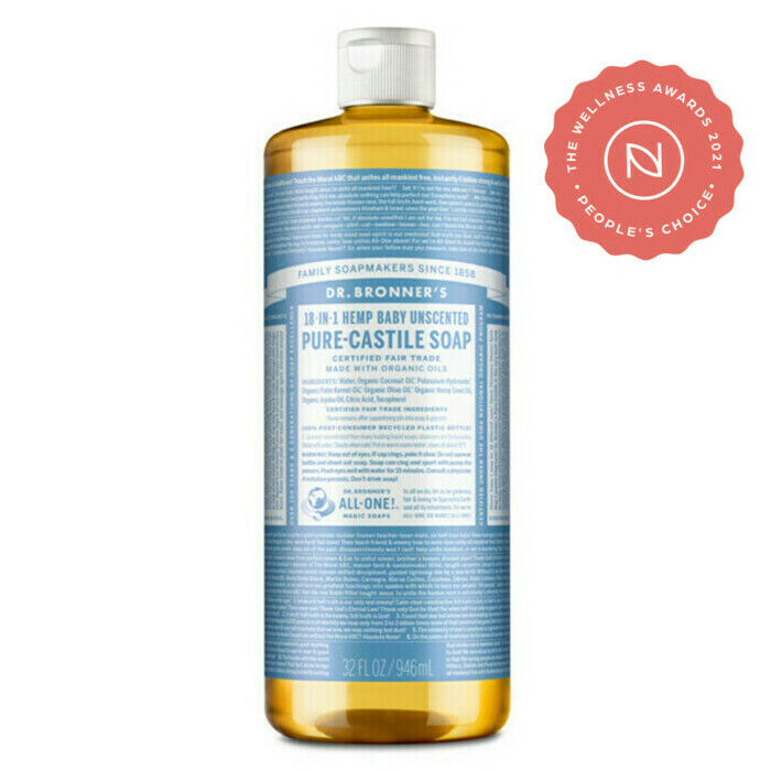 Dr Bronner S Pure Castile Liquid Soap Baby Unscented