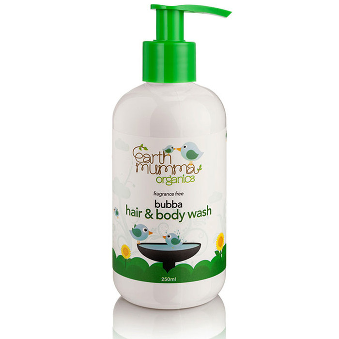 Earth Mumma Organic Bubba Hair & Body Wash - Fragrance Free
