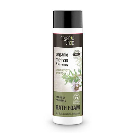 Organic Shop Bath Foam - Organic Melissa & Rosemary