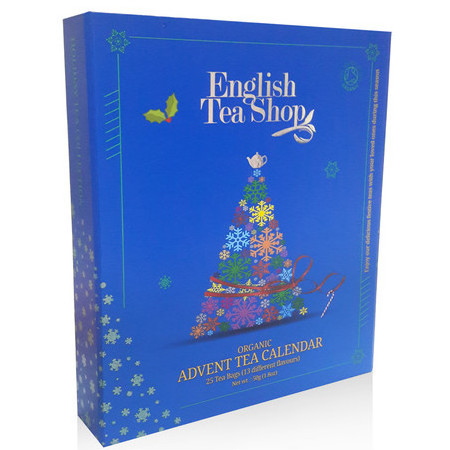 English Tea Shop - Organic Book Style Advent Calendar - Blue