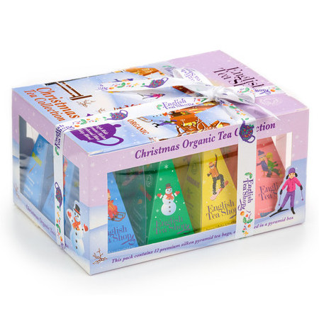 English Tea Shop - Holiday Organic Prism Christmas Gift Box - White Christmas